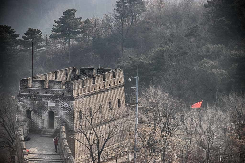 Mauer bei Peking im Winter